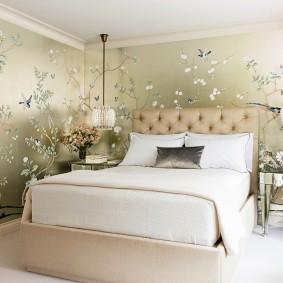 Дизайн спальни с низким потолком