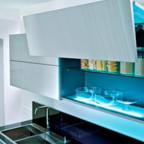Подсветка кухонных шкафов светодиодными лампами