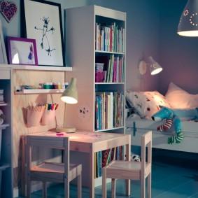 Вариант сценария освещения для детской комнаты