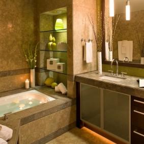Организация освещения в совмещенной ванной