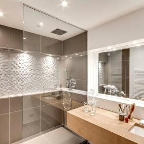 Декор ванной комнаты в двухкомнатной квартире