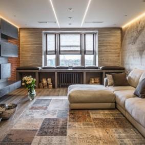 Подвесной потолок в трехкомнатной квартире