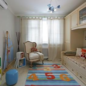 Детская спальня в трехкомнатной квартире