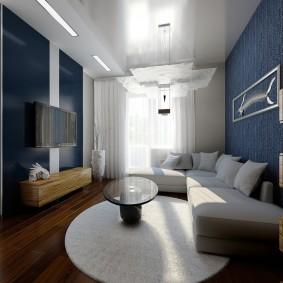 Подвесной потолок в интерьере квартиры