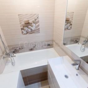 Маленькая ванная в 3-х комнатной квартире