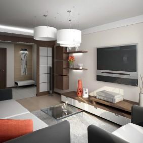 Оформление гостиной комнаты среднего размера