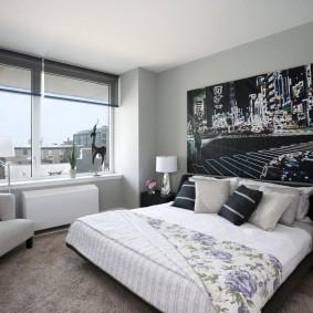 Современное оформление спальной комнаты