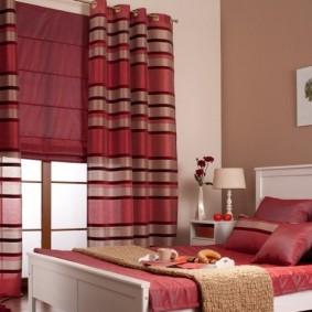 Полосатые портьеры из натуральной ткани