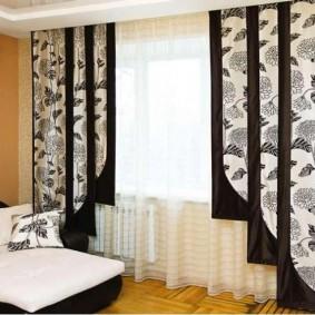 Лаконичные шторы в японском стиле