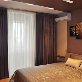 Дизайн спальни в коричневых оттенках