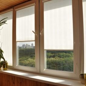 Кассетные шторы на пластиковых окнах