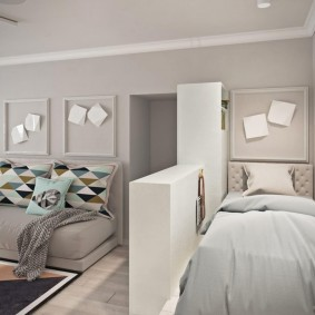 Место для кровати в малогабаритной однушке