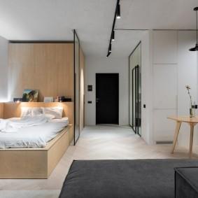 Квартира студия в стиле минимализма