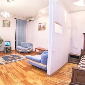 Гипсокартоная перегородка в однокомнатной квартире