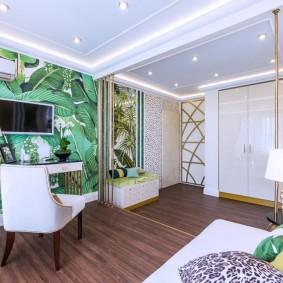 Разделение комнаты на зоны с помощью потолка