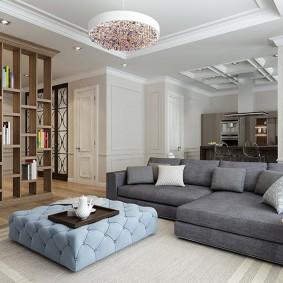 Однокомнатная квартира в неоклассическом стиле