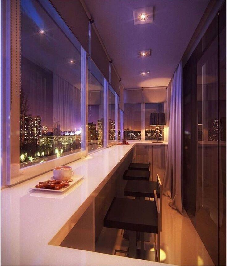 Организация освещения на балконе в стиле хай-тек
