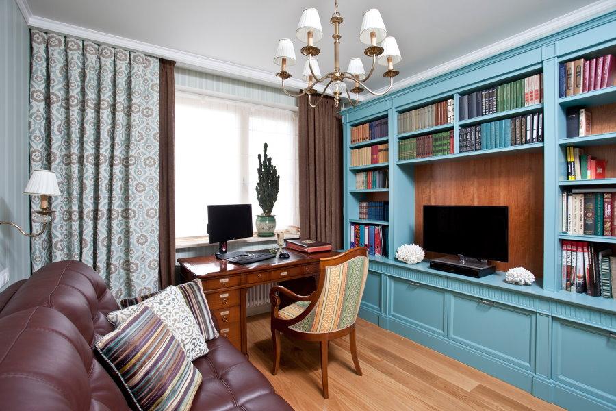 Интерьер домашнего кабинета в современном стиле
