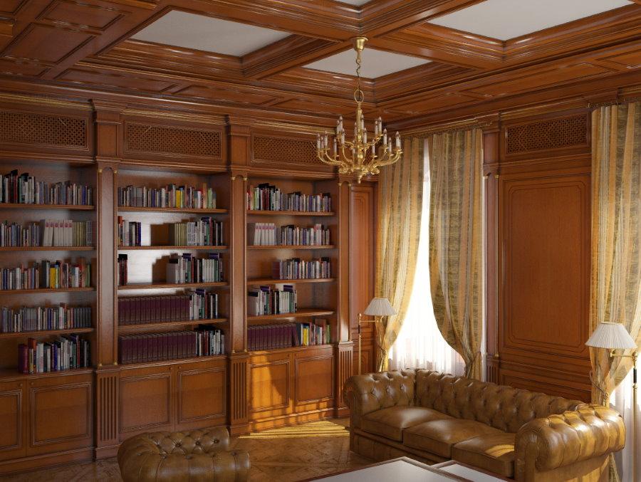 Встроенные шкафы для хранения домашней библиотеки