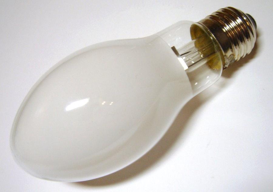 Лампа ртутная с матовой поверхностью