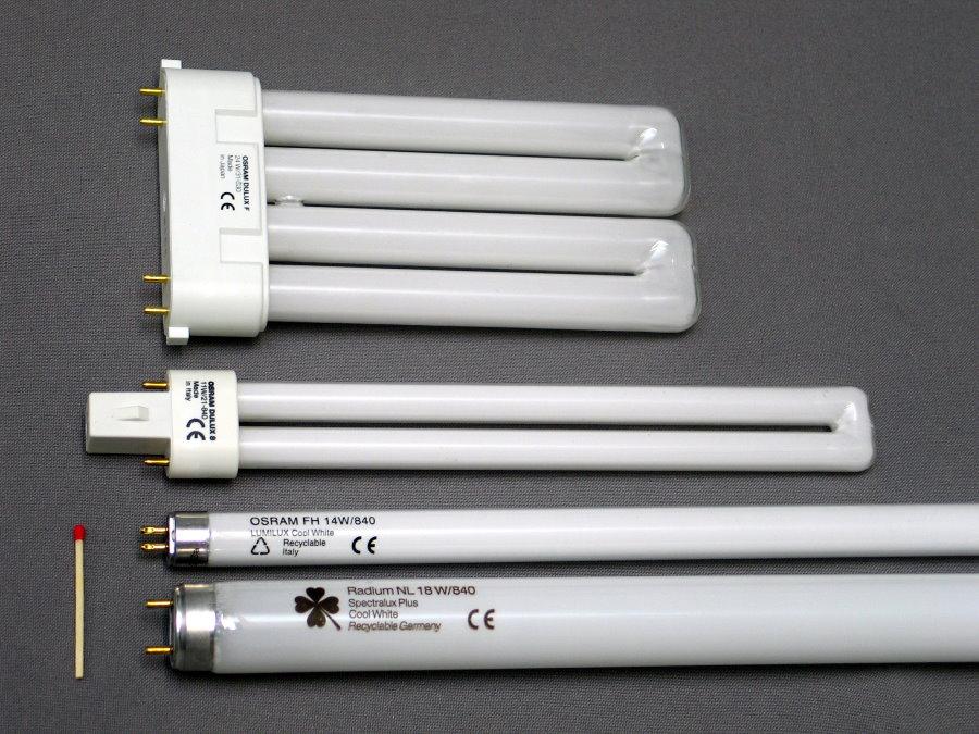 Лампы дневного света в ассортименте