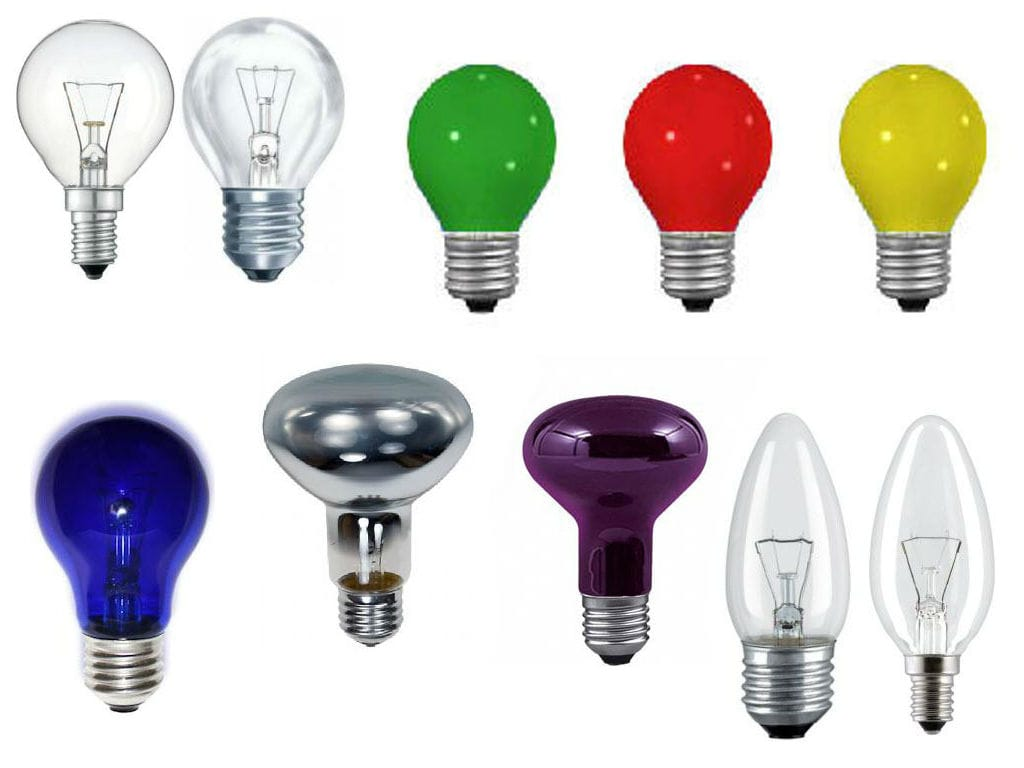 Внешний вид ламп накаливания для квартиры