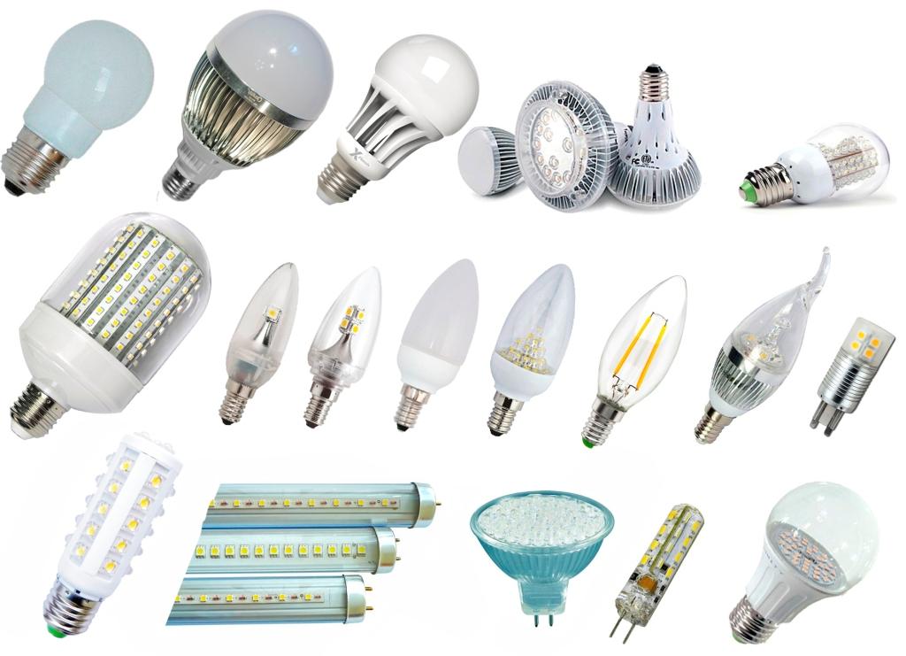 Типы светодиодных ламп для освещения квартиры