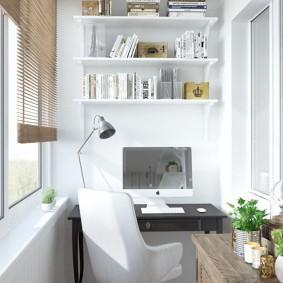 Домашний кабинет на утепленном балконе