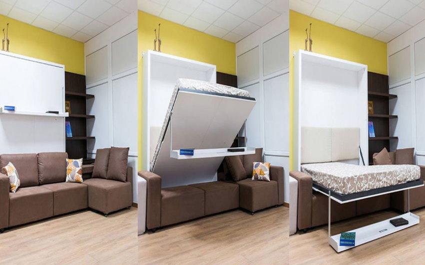 Универсальная мебель в однокомнатной квартире
