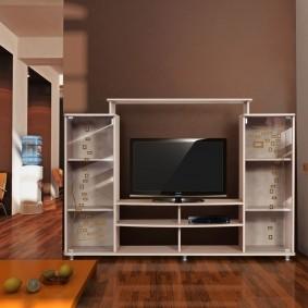 Низкая стенка с местом под телевизор