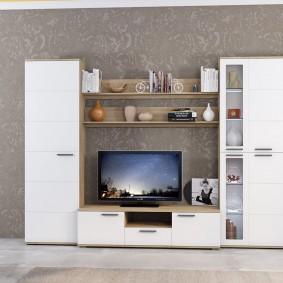 Белая мебель лаконичного дизайна
