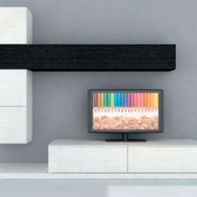 Мебельная стенка в стиле минимализма