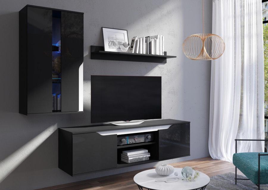 Мини-стенка с подвесной тумбой для ТВ