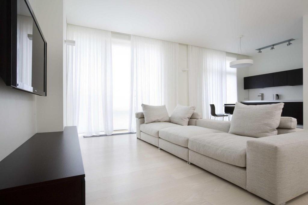 Однотонный интерьер однокомнатной квартиры