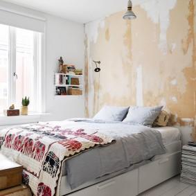 Интерьер небольшой спальни в стиле боххо