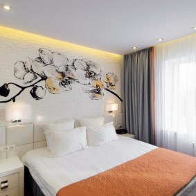 Декоративная подсветка в маленькой спальне