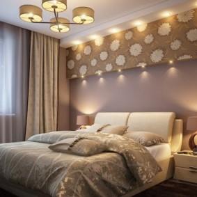 Организация комфортного освещения в маленькой спальне