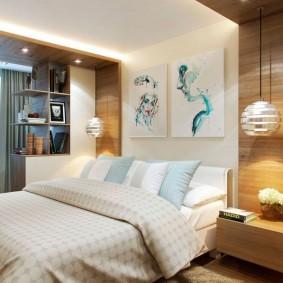 Современный декор в спальной комнате