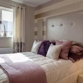 Мягкая отделка стены над изголовьем кровати