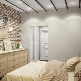 Кирпичные обои в дизайне спальни