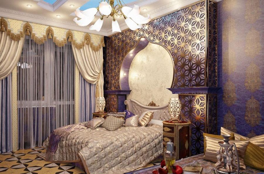 Оформление спальной комнаты в восточном стиле
