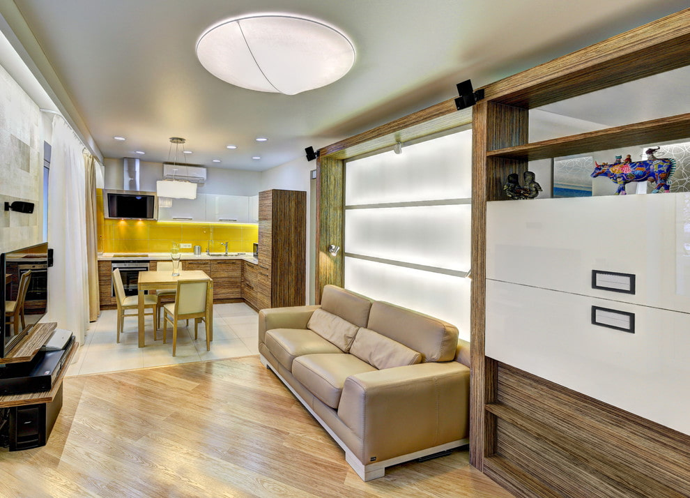 Организация освещения в квартире-студии