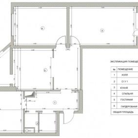 Схема трешки в панельном доме серии п-44 т
