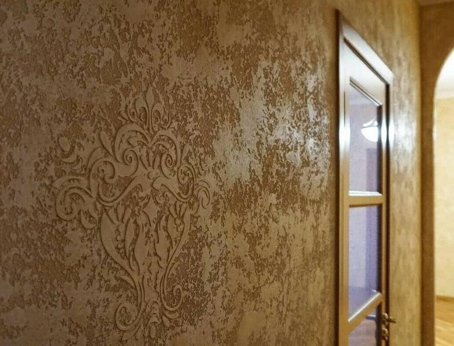 Отделка венецианской штукатуркой стен в квартире
