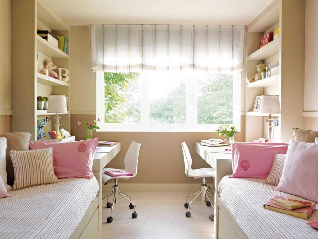 Оформление детской спальни для двух девочек