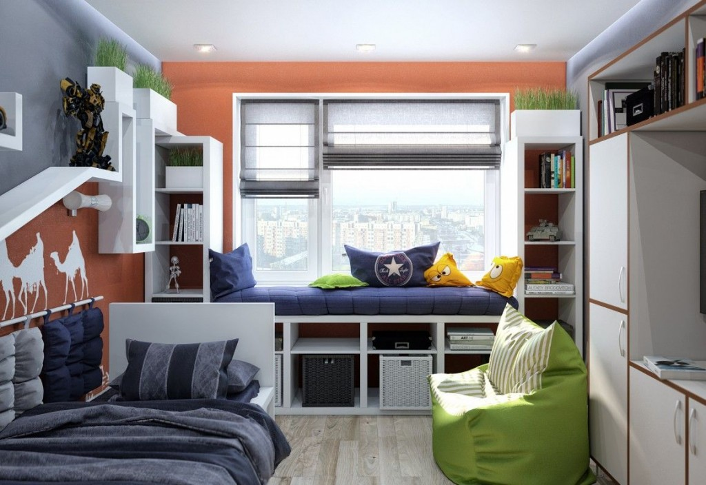 Дизайн комнаты для подростка-школьника