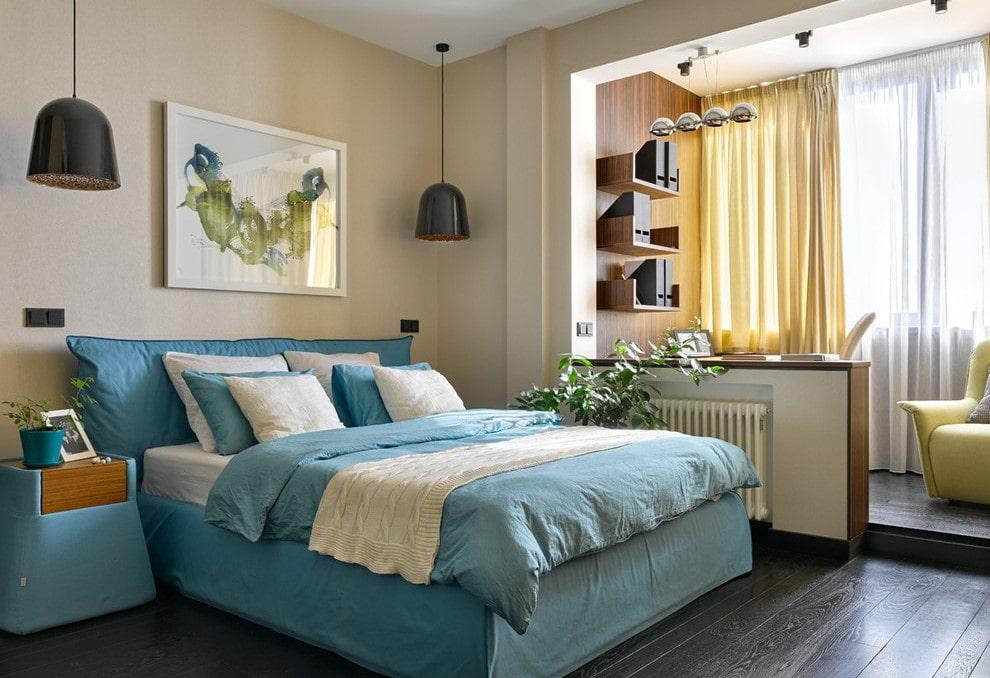 Оформление интерьера спальни с утепленной лоджией