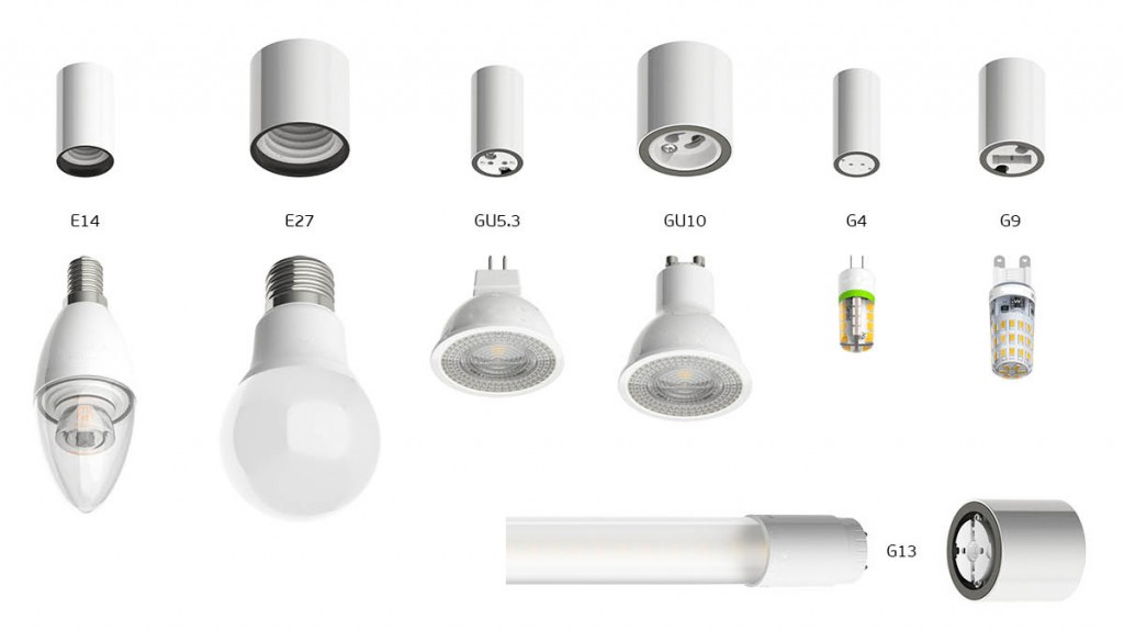 Разновидности цоколей бытовых электроламп