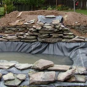 Строительство искусственного водопада своими руками
