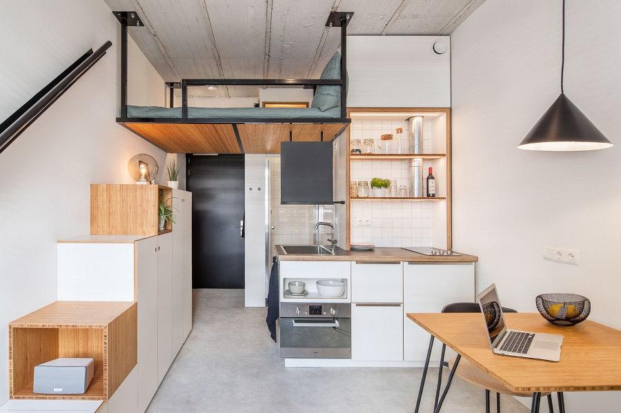 Дизайн однокомнатной квартиры со вторым ярусом